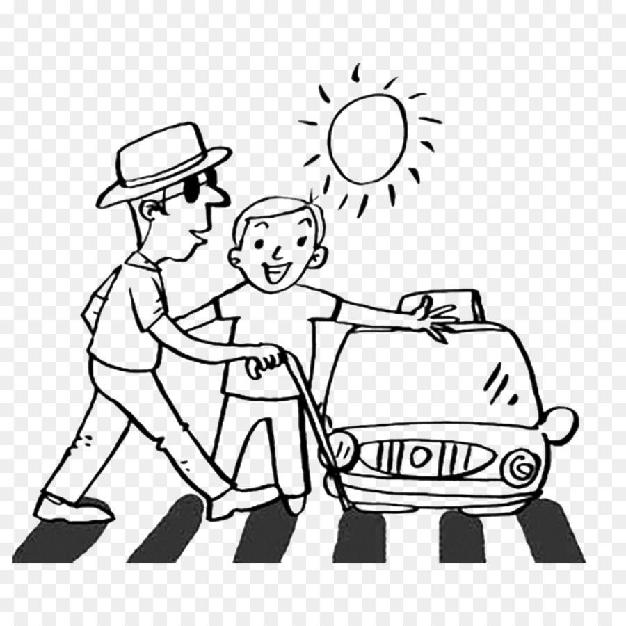 Road Safety Clipart Black And White.