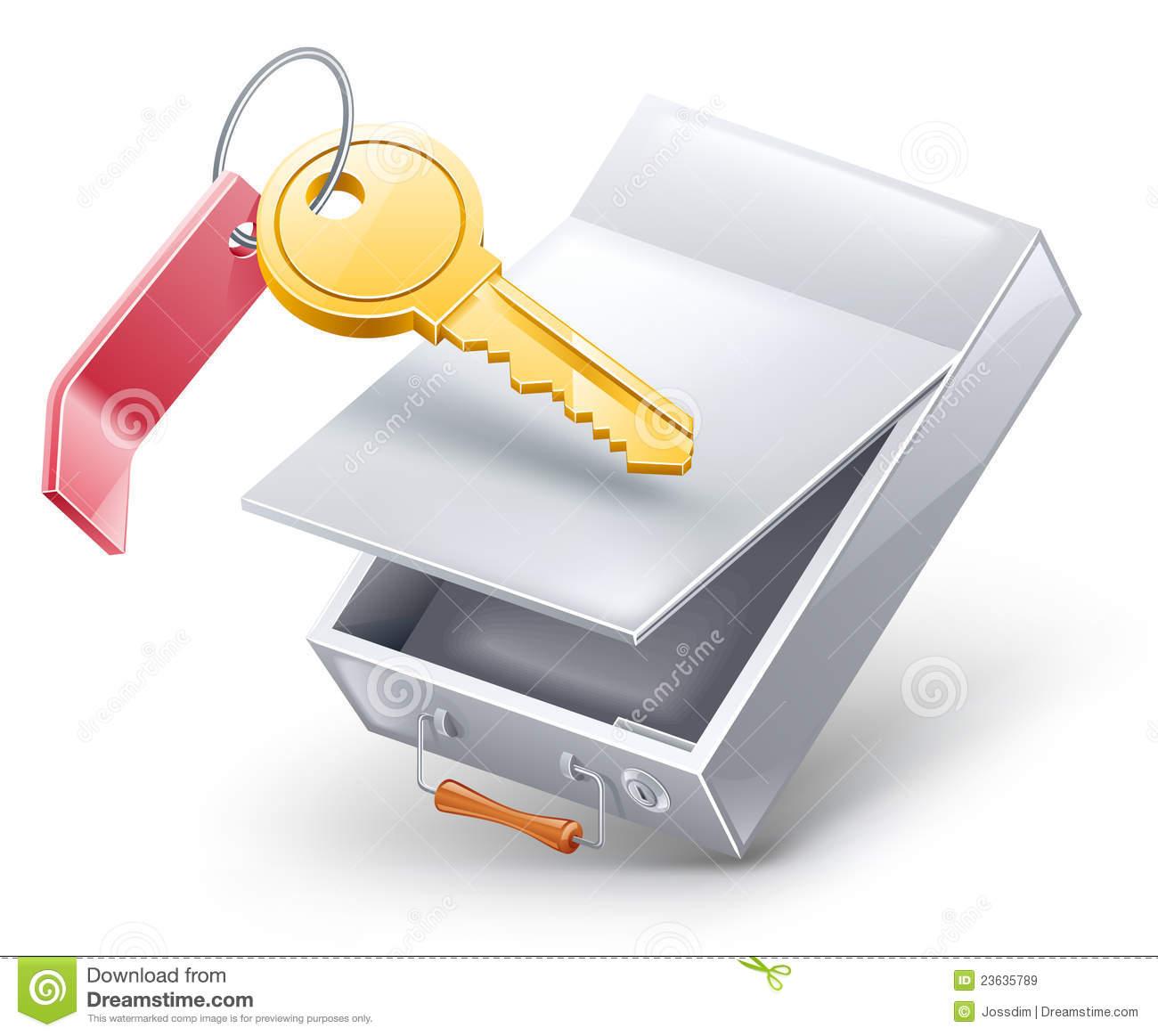 Safety deposit box clipart.