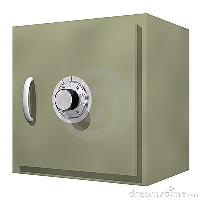 Safety Deposit Box Stock Image.