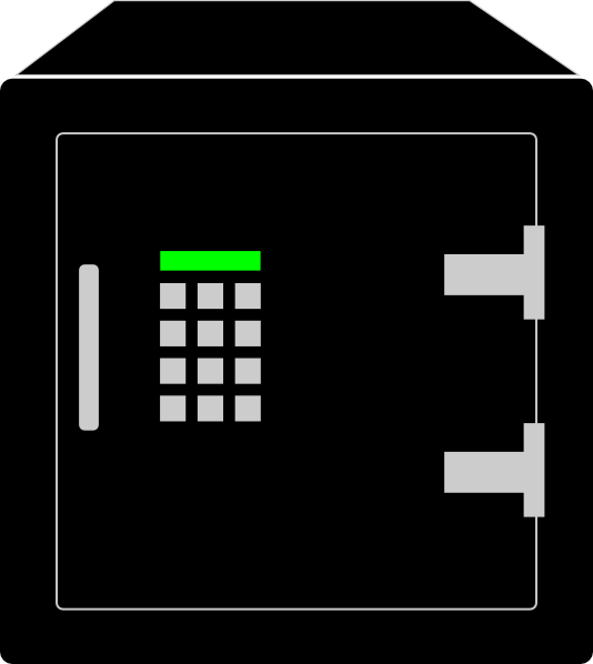 Safe With Key Pad Clip Art at Clker.com.