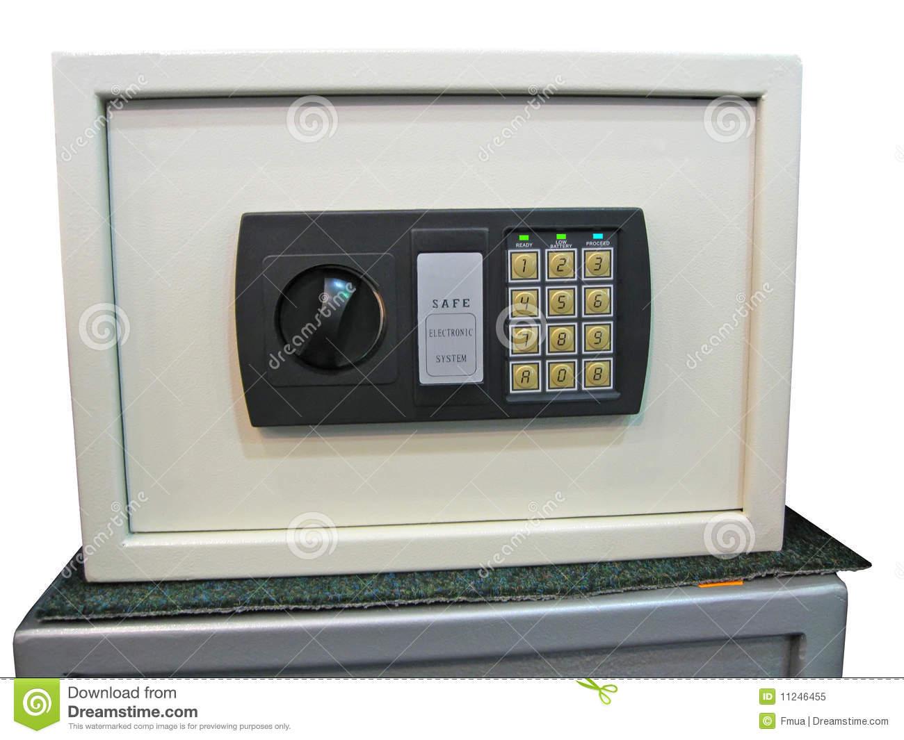 Safe Key Lock Savings Control Panel Security Royalty Free Stock.