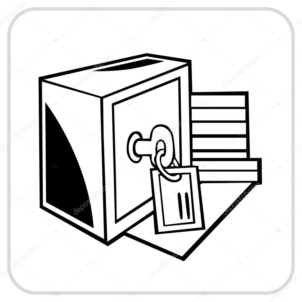 Safe with key — Stock Vector © Digital.