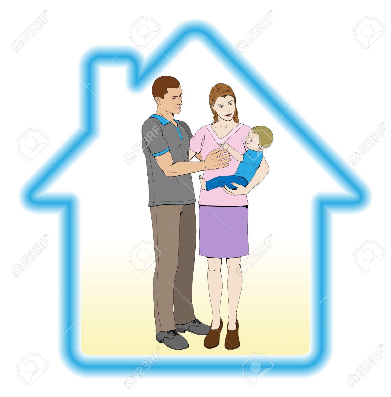 Home Safe Clip Art.