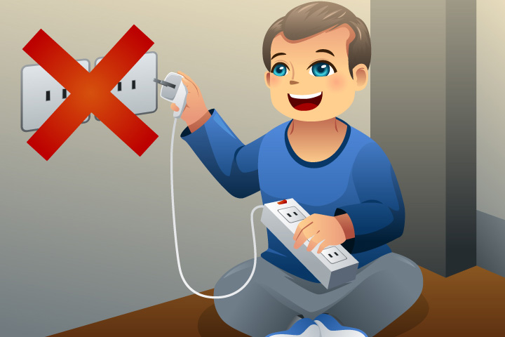 Safety Rules At Home Clipart.