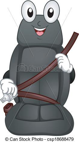 Vectors Illustration of Seat Belt Mascot.