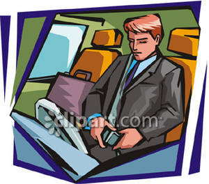 Clipart man putting on a seat belt.
