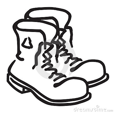 Black Work Boots Clipart.