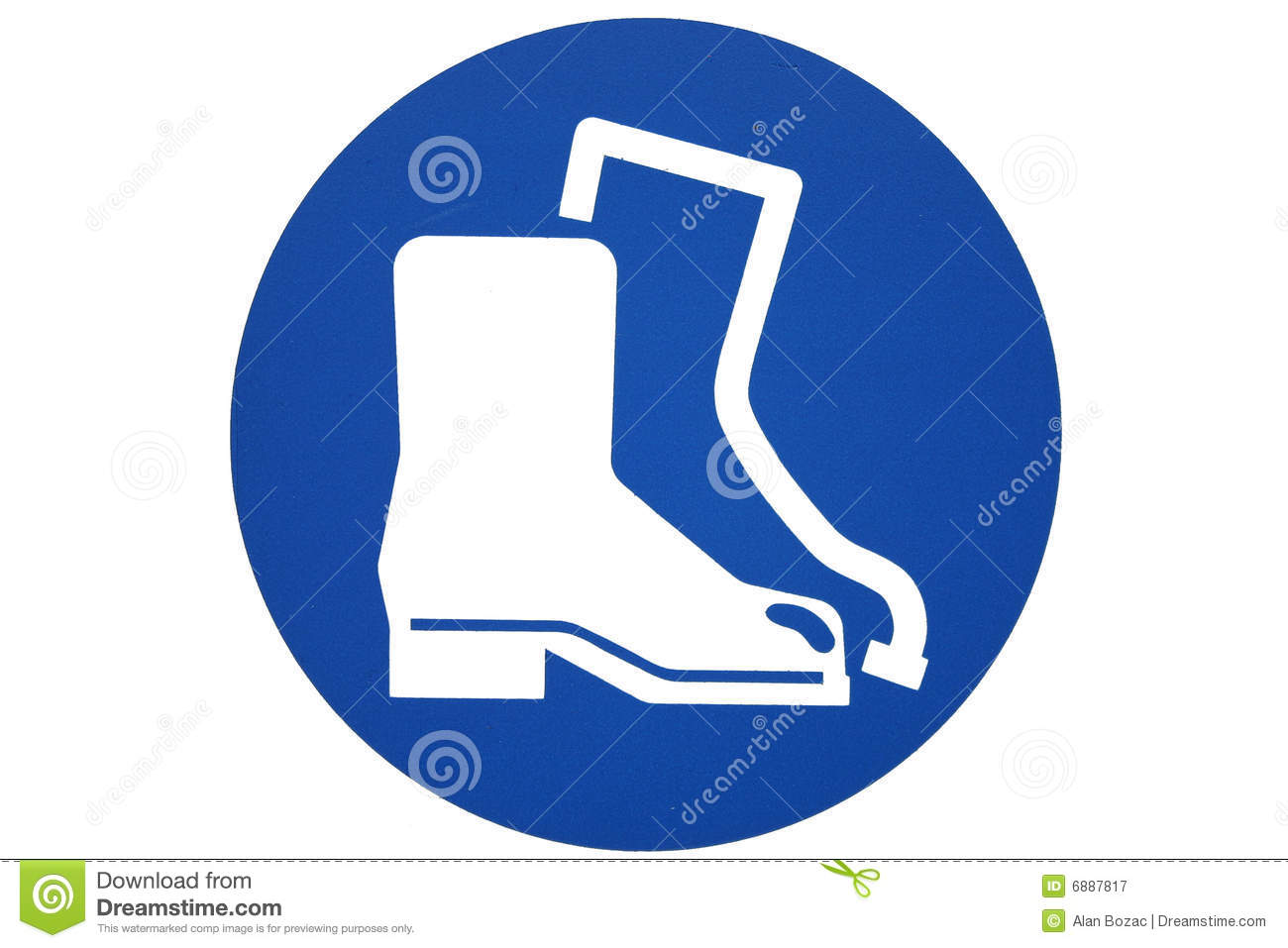 Safety Boots Sign Royalty Free Stock Photography.