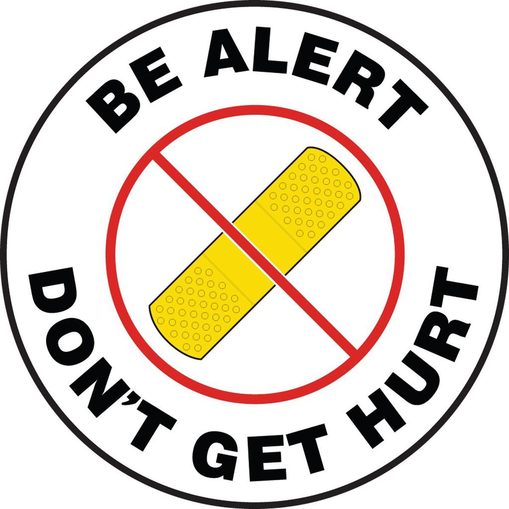 Safety Clipart Be Alert.