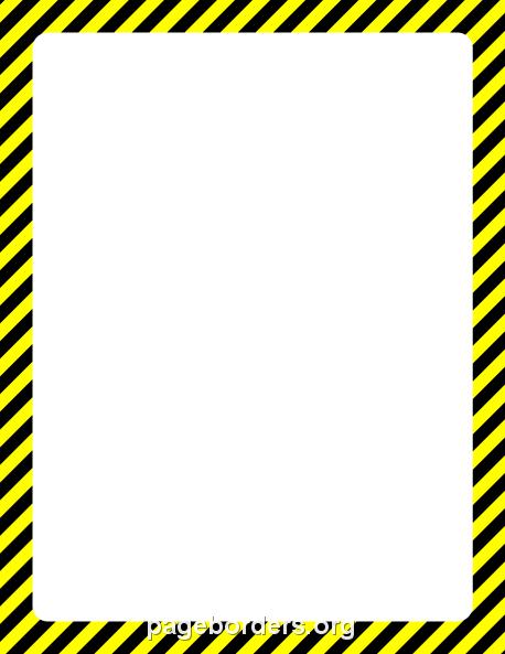 Caution Tape Border Clipart.