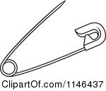 pin clipart black and white safety pin clipart #1.