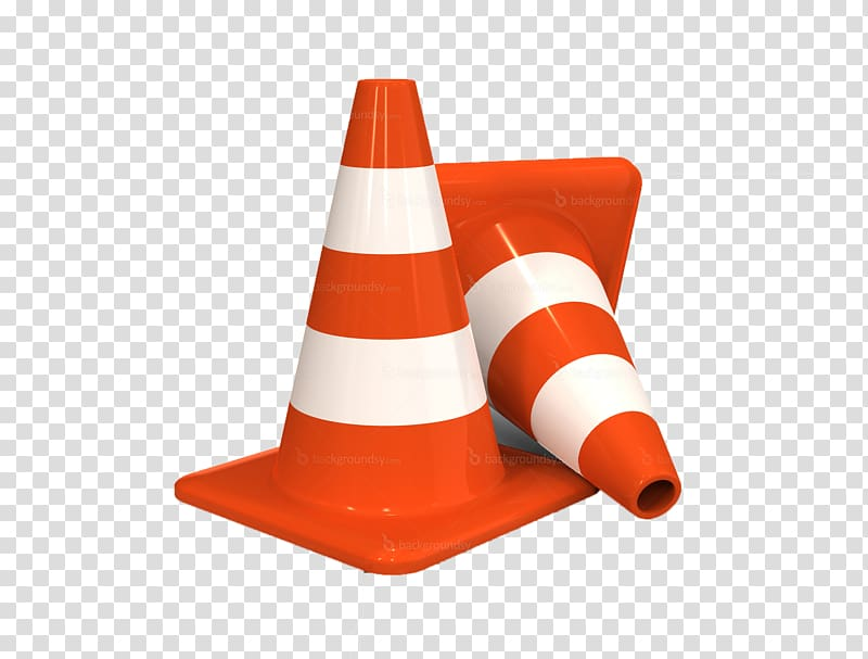 Traffic cone Road traffic safety, cone transparent.