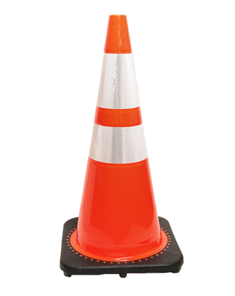 TRAFFIC SAFETY CONE.
