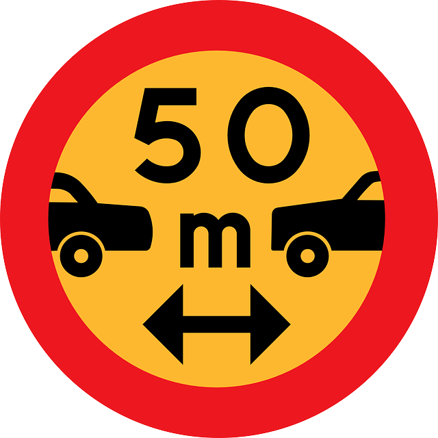 Free vector graphic: Safety Distance, Roadsign.