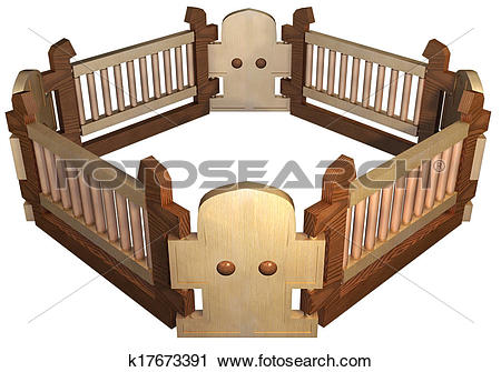 Clipart of Safety fence k17673391.