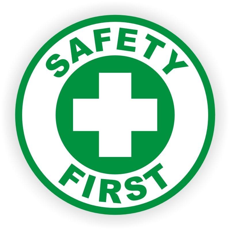 Safety First Hard Hat Sticker / Decal / Helmet Label Union.