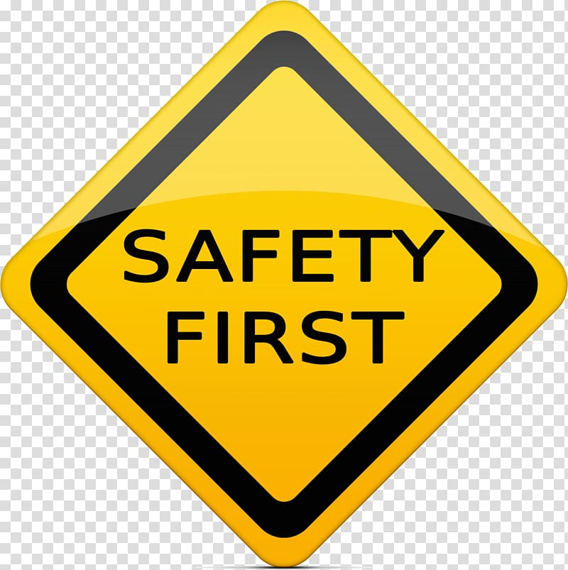 Yellow safety first road sign, Traffic sign Portable Network.