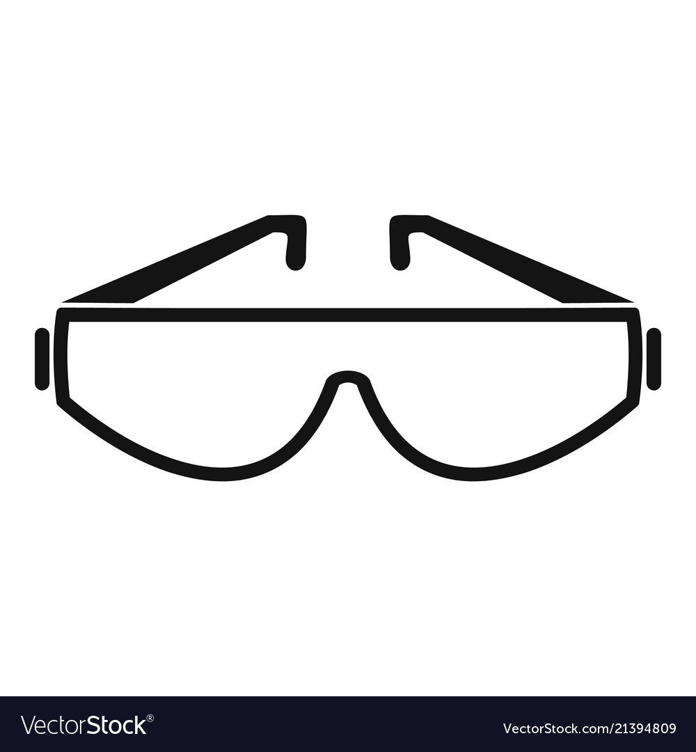 Safety glasses icon simple style.