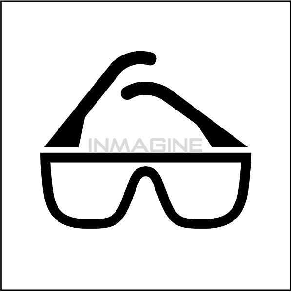 Safety glasses clip art.