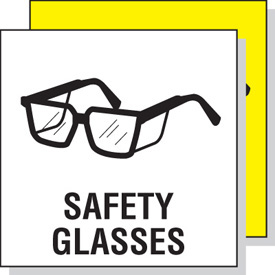 Wearing safety goggles clipart.