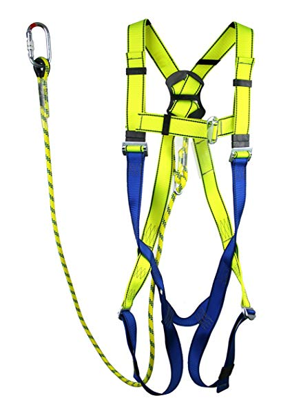Full Body Height Safety Fall Arrest Restraint Harness Kit For Access  Platform Cherry Picker Restraint, Fully Adjustable (XXL).