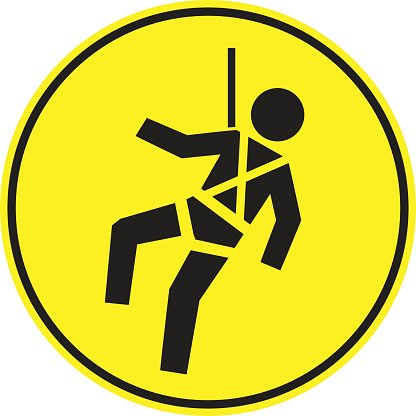 Safety Harness Signs premium clipart.