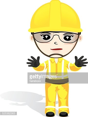 Safety Man premium clipart.