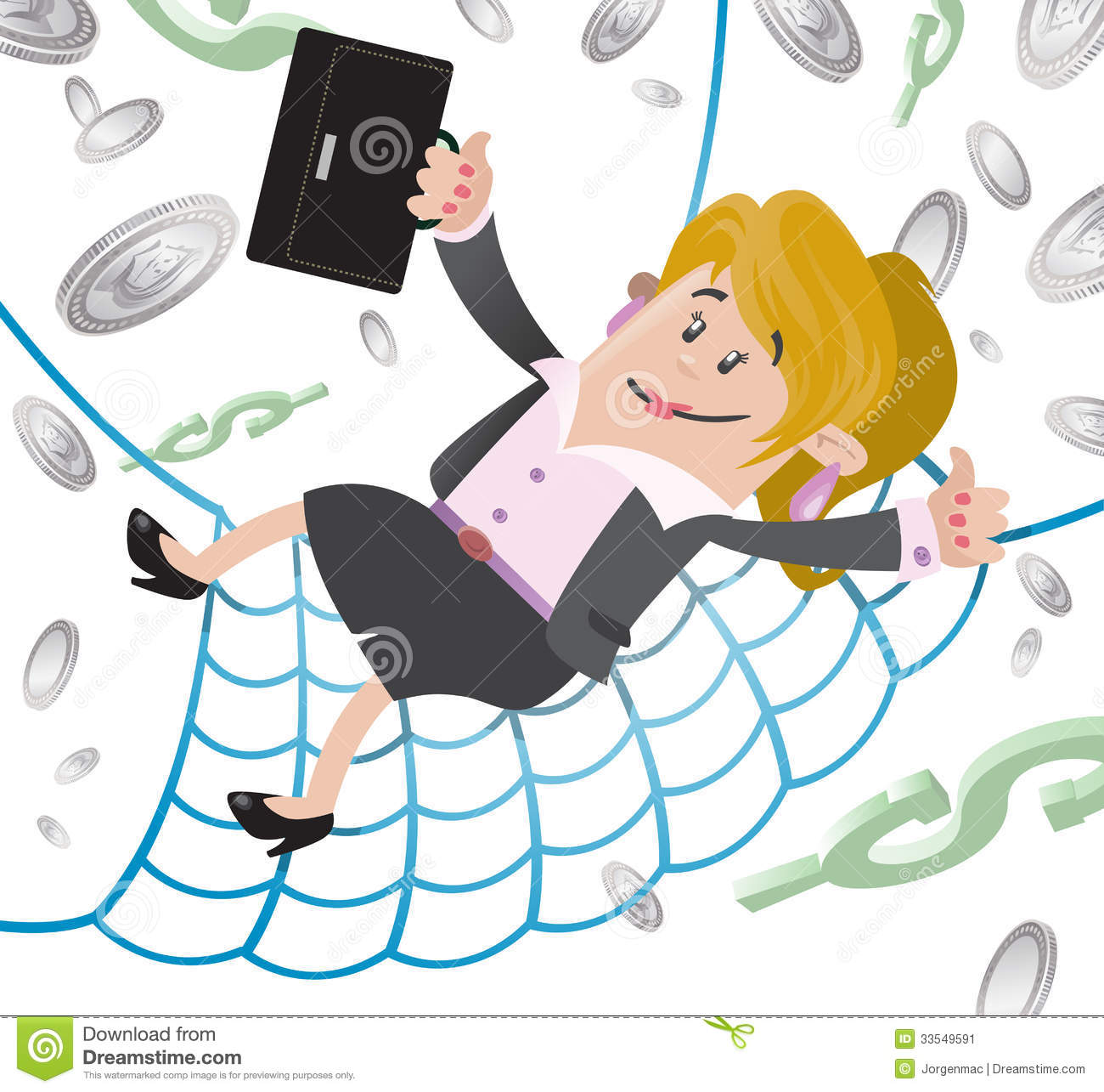 Businesswoman Buddy Has A Financial Safety Net. Stock Image.