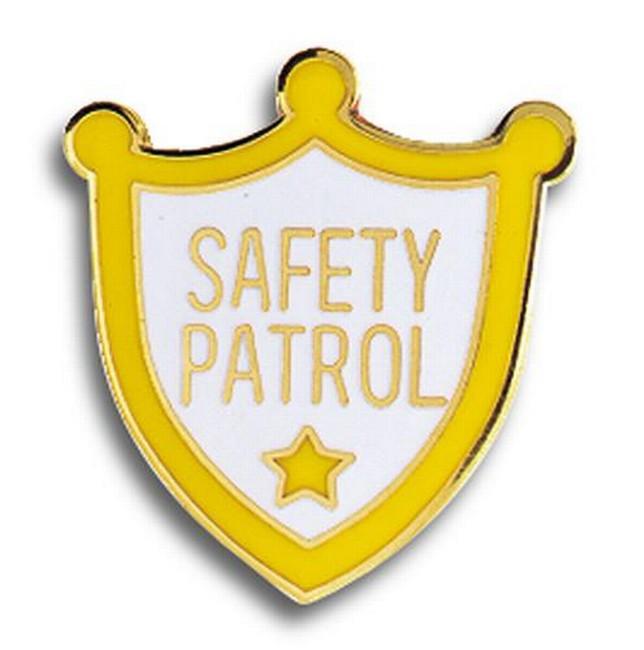 Safety Patrol Lapel Pin.