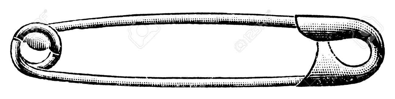 Safety Pin Clipart.