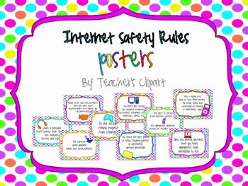 Internet Safety Poster Clipart.