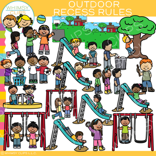 Safety Rules At School Clipart.