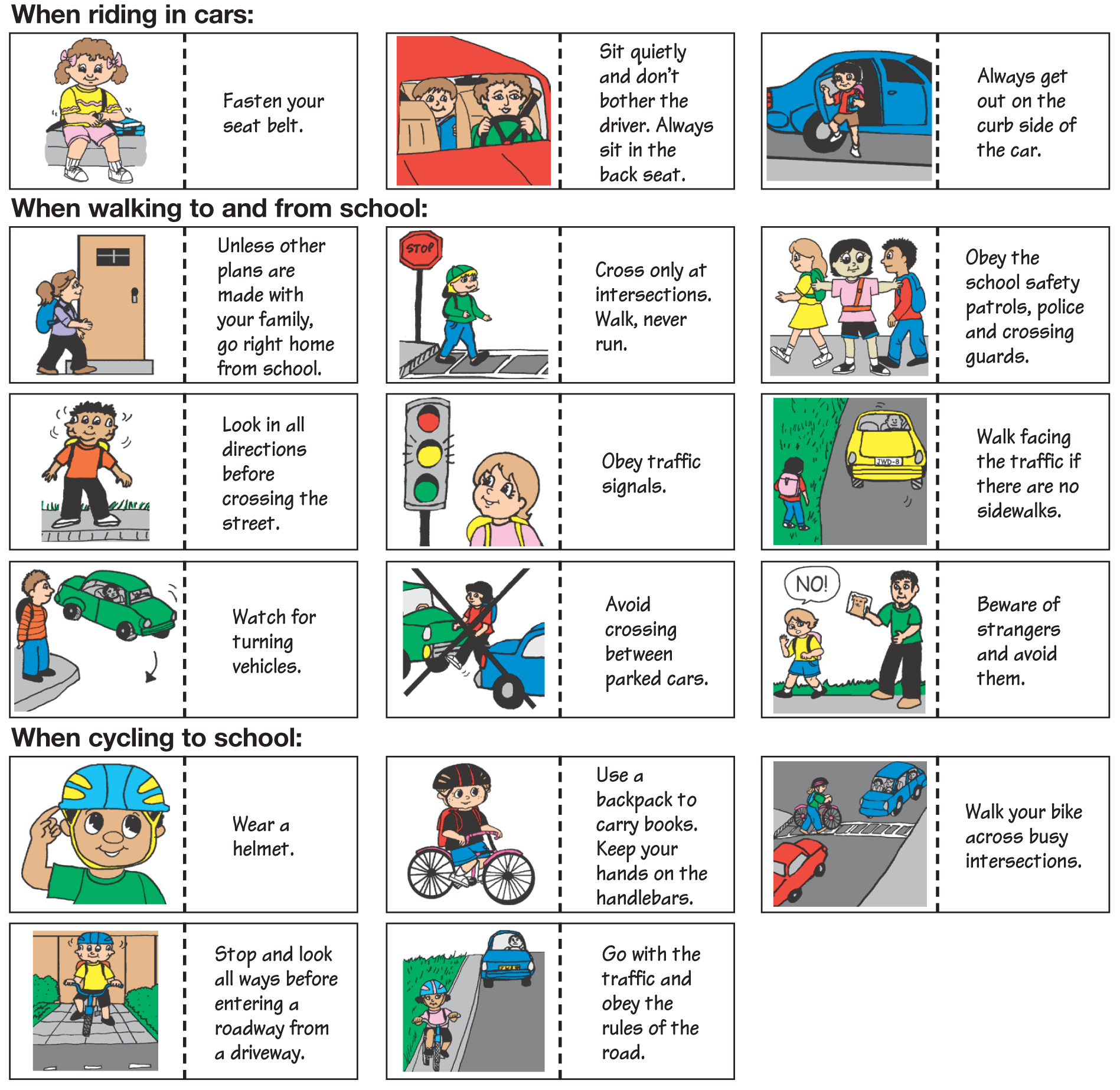Safety Measures In School Clipart.