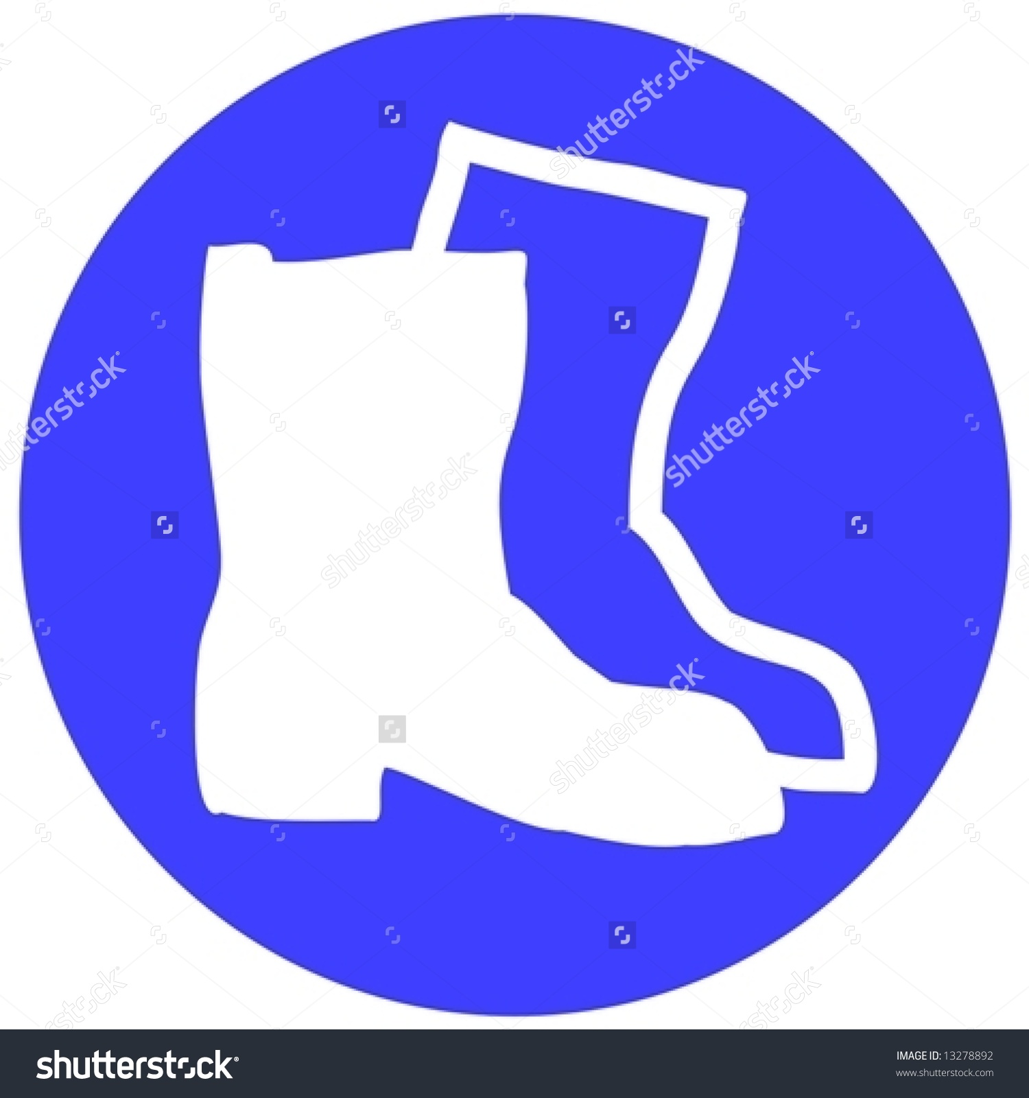 Wear Safety Shoes Stock Vector 13278892.