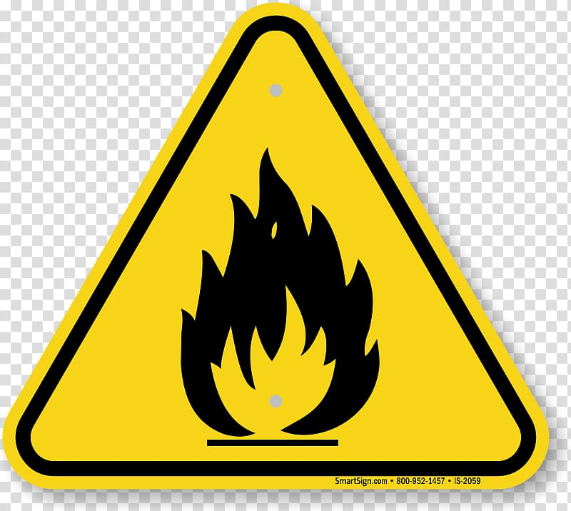 Hazard symbol Warning sign Safety Combustibility and.