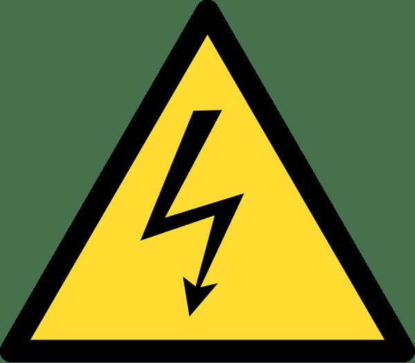 High Voltage Warning Sign transparent PNG.