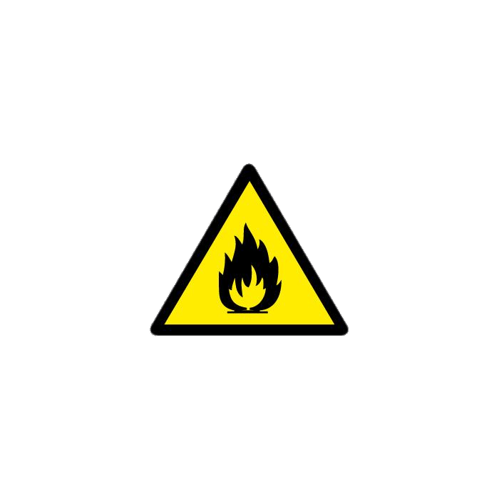 Flammable Material Safety Sign transparent PNG.