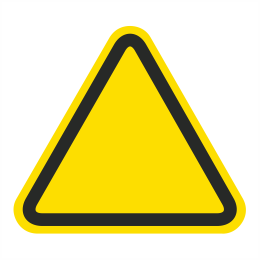 Custom ISO Hazard Symbol Label C1808.