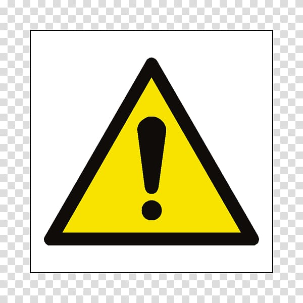 Safety Warning sign Hazard symbol, safety signs transparent.