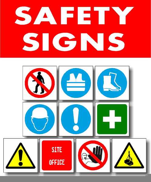 Industrial Safety Signs And Symbols Clipart.