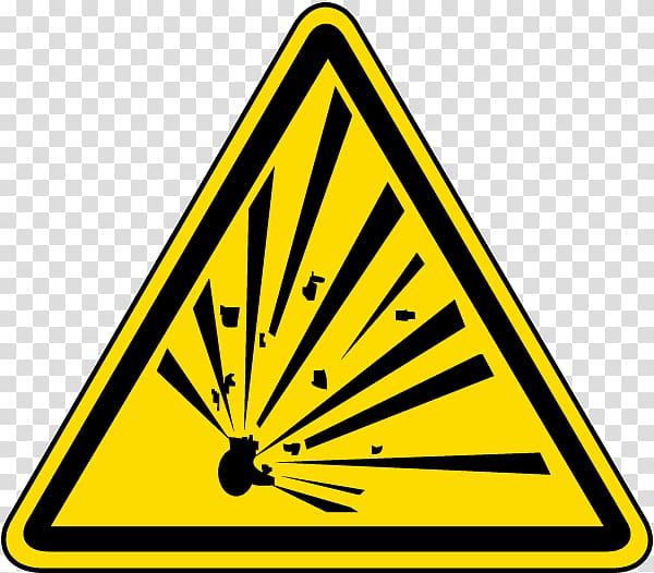 Hazard symbol Safety Explosive material Sign, label material.