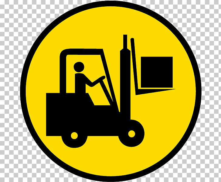 Forklift Safety Warning label Sticker, safety symbols PNG.