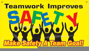 Safety Slogan Clipart.