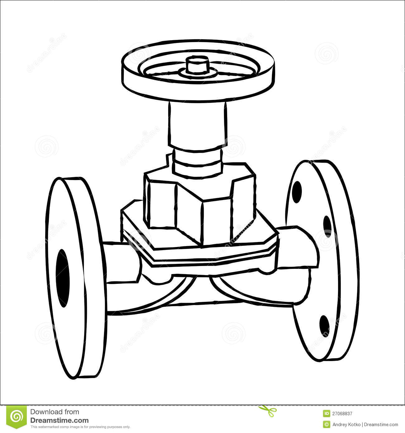 Gas Valve Royalty Free Stock Photography.