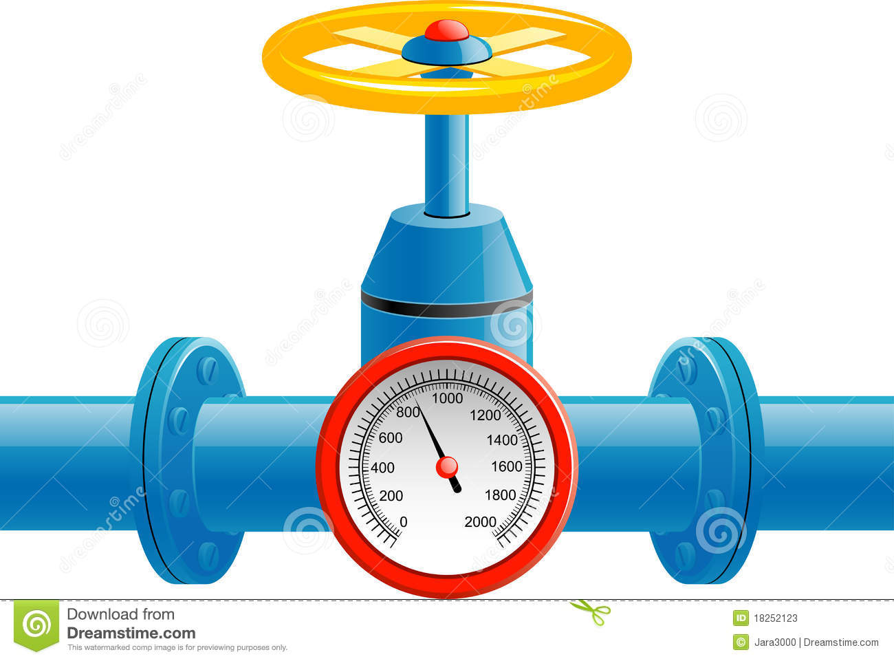 Gas Pipe Valve And Pressure Meter Stock Photos.