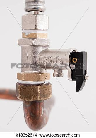 Stock Photo of safety valve detail k18352674.