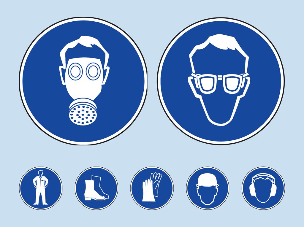 Safety Icons Vector Art & Graphics.