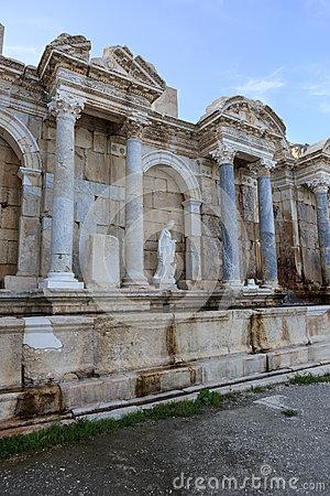 Ruins Of Ancient City Of Sagalassos Stock Photo.