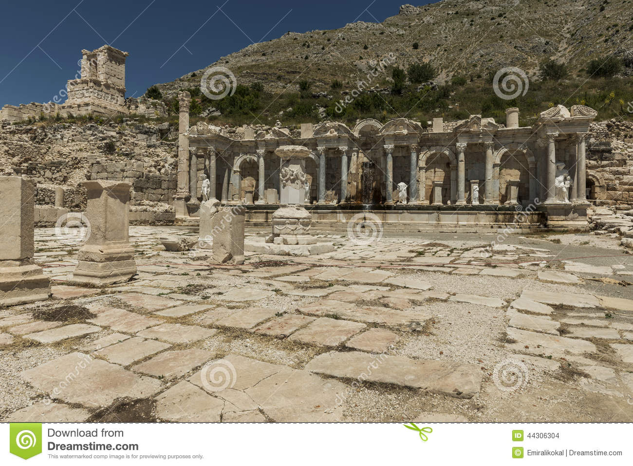 Antonine Nymphaeum At Sagalassos, Turkey Stock Photo.