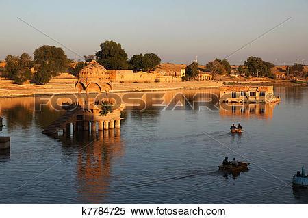 Stock Image of Gadi Sagar Lake Jaisalmer k7784725.